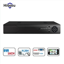 16CH DVR Full Stand Alone HD P2P Cloud H.264 VGA HDMI video recorder RS485 Audio supprot analog camera support 6T HDD Hiseeu(China)