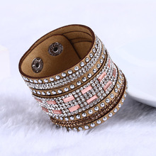 Buy Fashion New Leather Bracelets Wrap Bracelet women Clasp Charm Bracelets Bangles 8Color Free for $1.21 in AliExpress store