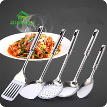Stainless Steel Long Handle Cooking Pot Shovel Kitchen Set Of Cooking Spoon Shovel Big Spoon Kitchenware