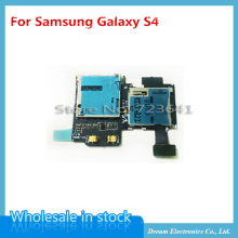 5pcs/lot  For Samsung Galaxy S4 i9500 i9505 Micro SD SIM Card Tray Slot Holder Reader Flex Cables