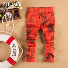 New Spring Autumn Kids Pants Boys Colorful Pants For Children Cotton Trouser Leisure School Fashion Casual Baby Boy Capris GH248(China)