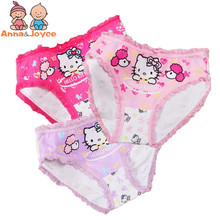 Girls Underwear Briefs Panties Kitty Baby Kids Pants Wholesale High Quality Short Children Princesses 2pcs/lot TNN0069