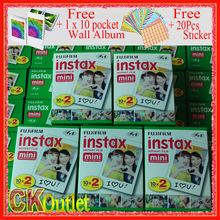 Original Fujifilm 100 Sheets Instax Mini 8 9 Film VALID UNTIL 2019-6 + Free Wall Album Sticker for Polaroid Camera 7S 70 90 NEO(China)