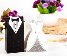 200pcs wedding favor candy box Bride Groom. Wedding invitation gifts, party decoration supply.decoracion boda sweet box