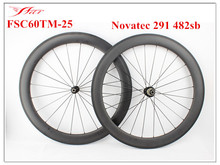 OEM wheels !! FSC60TM-25 Farsports carbon bicycle wheels with Novatec hubs imported from Taiwan directly , good performance
