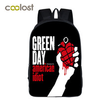 Green Day Band Backpack for Teenage Girls Hip Hop Bags Cold Play Rock Children School Bag KPOP Men Travel Bag Schoolbag for Boys(China)