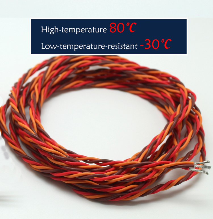 """Details about  /10Pcs 32.5cm//12.8/"""" Male to Male Servo Extension Cable 26AWG 30-Core Wire for RC"""