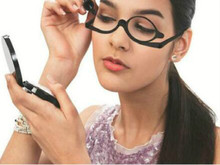 Black Color Makeup Reading Glass Folding Eyeglasses Cosmetic Magnifying Glasses Rotatable Frame Cosmetic Tool