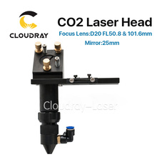 Cloudray CO2 Laser Head for Focus Lens Dia.20 FL.50.8 & 101.6mm & Mirror 25mm Mount for Laser Engraving Cutting Machine