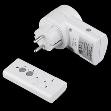 Wireless Remote Control Home House Power Outlet Light Switch Socket +1 Remote EU Connector Plug BH9938-1 DC 12V