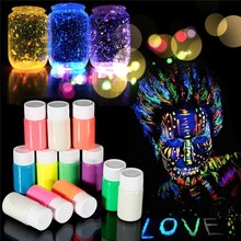 New 12 Colors Neon Fluorescent Body Paint Grow In The Dark Face Painting Luminous Acrylic Paints Art for Halloween Party Make Up(China)