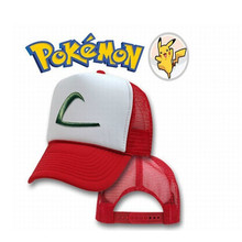 Adult POKEMON Ash Ketchum cosplay hat Pocket Monster cosplay cap  Summer cotton cosplay  hats   cs206