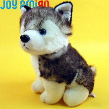 Cute Fluffy Plush Stuffed Husky Sled Dog Puppy Little Baby Husky Soft Animal Toy Gift