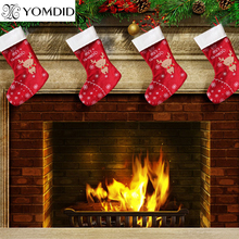 deer christmas stocking decoracion navidad enfeite de natal christmas decorations for home gift(China)