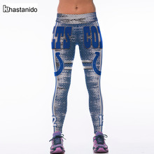 Khastanido 2017 New Digital Print Mesh High Wast Leggings Women Casual Workout Pants Spandex Fitness Apparel Leggins Deporte