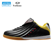 TIEBAO Professional Indoor Soccer Shoes IN & IC Sole Football Boots Sneakers Men Women Athletic Training Shoes chuteira futsal(China)