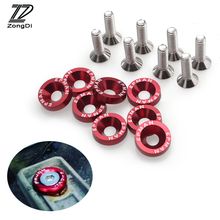 ZD 10X Car modified screw gaskets six colors for BMW E39 E90 E60 E36 F30 F10 E34 E30 Mini Cooper Audi A4 B8 A3 A6 C6 Q5 A5(China)