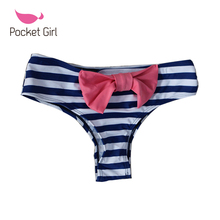 2017 Sexy Women Underwear Maillot De Bain Swimsuit Menglan Swimwear Brazilian Bottoms With Big Bow Bikini Bottom Biquini Thong(China)