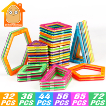MiniTudou 32-72 PCS Plastic Magnetic Designer Toys Building Blocks Bricks Magnetic Toys Model & Educational 3D DIY For Kids(China)