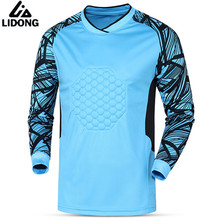 New Quick Dry Men Spong Soccer jerseys Goalkeeper Jersey survetement football 2017 Goal keeper Training Shirts Tops clothes(China)