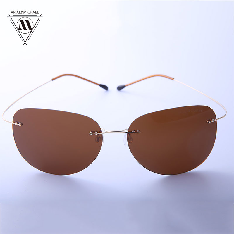 Arial&amp;Michael Classic Pilot Style Sunglasses men HD Polarized Anti-Glare/UV Protection Titanium Bridge Sun glasses 8202<br><br>Aliexpress