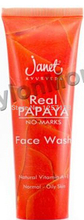 Free Shipping Real Papaya 50ml Aloe Whitening Face Wash Mint Remove Oil Black Spots