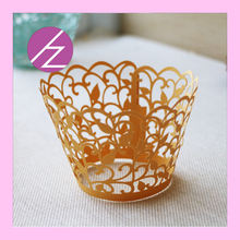 Hot cup cake pearl  paper 50pcs Little Vine Lace Laser Cut Cupcake Wrapper Liner Baking Cup Muffin cake tool 50pcs free shipping