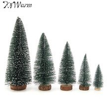 KiWarm Mini Artificial Christmas Tree Party Ornaments Figurines Miniatures Christmas Home DIY Decorations Crafts Gift 10-30cm