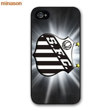 minason Santos FC Logo Black Cover case for iphone 4 4s 5 5s 5c 6 6s 7 8 plus samsung galaxy S5 S6 Note 2 3 4 H3952(China)