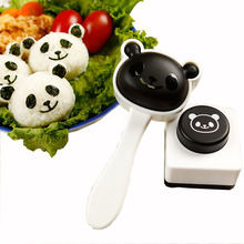 Cute Panda Shape Rice Sushi Mold Suit Creative Onigiri Maker Mould Seaweed Cutter DIY Kitchen Cooking Tools(China)