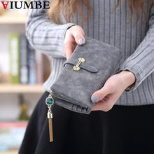 Wallet Brand Bling Diamond Tassel Nubuck Matte Leather Women Wallets For Girl Coin Purse Female Card Holder Long Lady Clutch Bag(China)