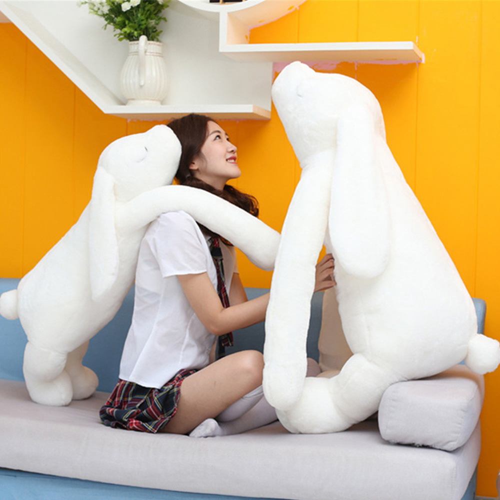 New 47inch 120cm Jumbo Soft Plush Stuffed Longer Ears Rabbit Bunny Toy, Nice Gift For Babies, Free Shipping FT50532 4