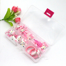 1 BOX  2017 Fashion cute girls Hello Kitty hair accessories elastic hair bands Girl hair clip  Gum kids gifts Headwear