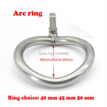Buy Stainless Steel Cock Rings Metal Cock Cage Chastity Belt Bondage Gear Arc Ring Penis Ring Sex Toys Chastity Cage Chastity Device