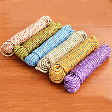 2015 New Design 10m Colorful Multifunction Nylon Washing Clothes Line Rope Clothesline String 10m Hangers & Racks(China)