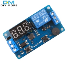Digital LED Display Time Delay Relay Module Board DC 12V Control Programmable Timer Switch Trigger PLC Automation Car Buzzer