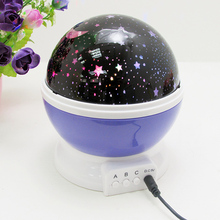 LAIMAIK LED Lamp Romantic Rotating Star Moon Sky Rotation Night Projector Light Lamp Projection with High Quality Night Lights(China)