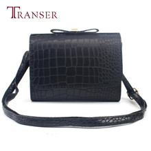 Women Fashion Croco Bow Handbag Shoulder Bag Large Tote Ladies Purse Best Gift Wholesale Jan30(China)