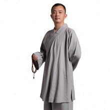 High Quality Cotton and Linen Long Sleeve Hanfu Suit Monk Uniforms Kungfu Clothes Martial Arts Clothing Arhat Suits