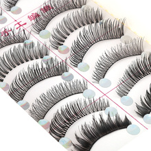 New 10 Pairs Various Mixed Styles Party Fake Eyelashes False Eyelash Solid Pack False Eyelashes