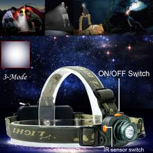 CREE Q5 Powerful LED Flashlight 2000LM Motion Sensing Headlamp Headlight Light Infrared Sensors Head Lamp 18650 / AAA Outdoor(China)