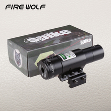 Buy FIRE WOLF Outdoor Hunting Tactical Rifle Gun 11 Mm / 20 Mm Iron Mountain Green Dot Laser Sight Range Laser Gun Green for $21.99 in AliExpress store