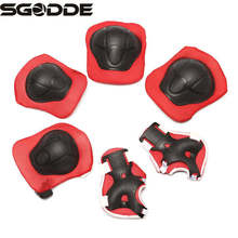 6pcs/set  Kids Protective Patins Roller Skating Knee Elbow Pad Protection Pad Children Skateboard Knee Guard Protector Kneecap