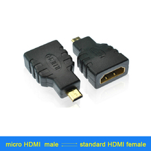 1 PCS Gold Plated Micro HDMI type D to HDMI Female Converters M-F Adapter Converter for digital product conversion