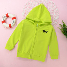 Children's plain-coloured hoodie coat Toddler Kids Babys Girls Autumn Winter Solid Hooded Coat Outwear Clothes(China)