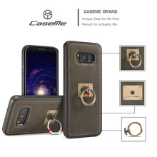 Original CaseMe For Samsung Galaxy S8 Plus Luxury Leather Business Simple Case For Samsung S8 + Removable Ring Kickstand Shell(China)