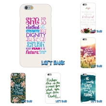 For Samsung Galaxy A3 A5 A7 J1 J2 J3 J5 J7 2016 2017 Christian Theme Bible Verse Proverbs Soft Silicone Cell Phone Case Cover