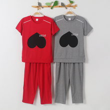 New 2017 Summer Leisure Homewear Brand Pajamas Casual Women Pajama Set Big Yards M-XXL Sleepwear Cotton Pyjamas for women