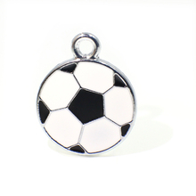 Soccer 50pcs Football Hang Pendant Charm Fit Necklace Pet tags Phone Strips key chain DIY Accessories HC123