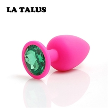 Buy LA TALUS Plug Anal Silicone Butt Plug Crystal Jewelry Smooth Touch Anal Plug Sex Toys Woman$Men